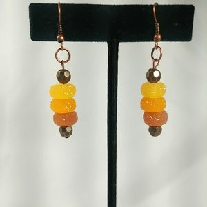 Jewelry - Sparkling Rock Candy Jewels Dangling Earrings